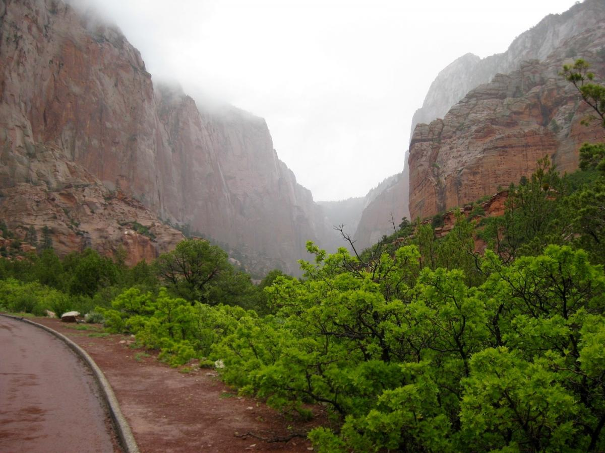 zion-kolob-canyon- Fotos van routes